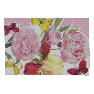 Buquê cor-de-rosa e amarelo floral da íris da