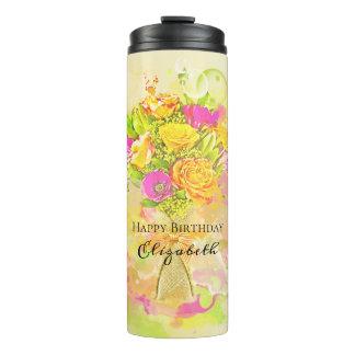 Buquê da flor da aguarela do aniversário