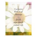 Buquê da flor - margarida branca panfleto coloridos