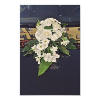 Buquê das flores brancas impressão fotográficas