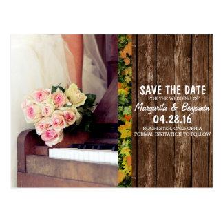 buquê das flores, da noiva e do piano/economias a cartão postal