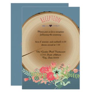 Buquê de madeira rústico - convite da recepção
