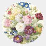 Buquê de Redoute da etiqueta redonda das flores Adesivos Em Formato Redondos