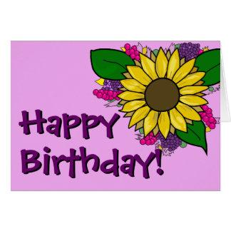 Buquê do girassol - cartão de aniversário