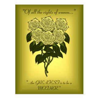 Buquê do rosa amarelo (dia das mães) cartoes postais