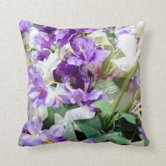 Buquê do travesseiro do quadrado das flores almofada