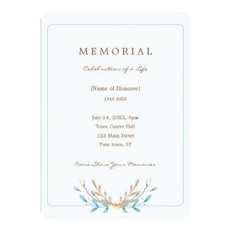 Buquê elegante do convite do memorial das folhas