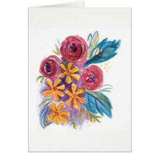 Buquê floral algum cartão da ocasião