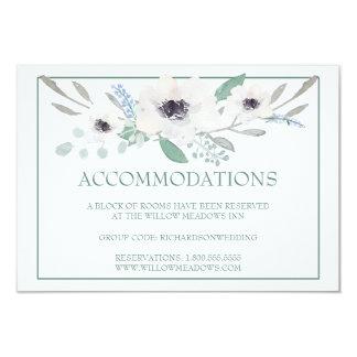 Buquê floral branco do cartão | das acomodações do