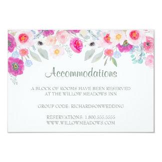 Buquê floral cor-de-rosa do cartão | da acomodação