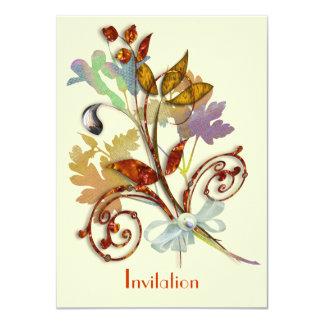 Buquê rústico da flor da queda lunática do outono convites personalizados