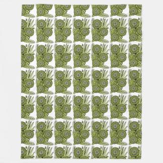 Buquê verde ácido da flor da margarida do Gerbera Cobertor De Lã