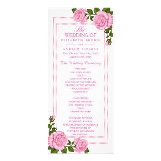 Buquês de canto cor-de-rosa bonito que Wedding o Panfleto