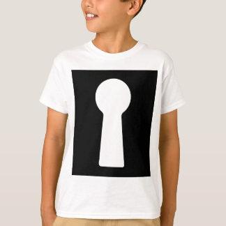 Buraco da fechadura, furo chave de esqueleto do camiseta