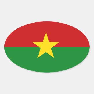 Burkina Faso Adesivos Ovais