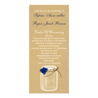 burla, programa do casamento do frasco de pedreiro modelo de panfleto informativo
