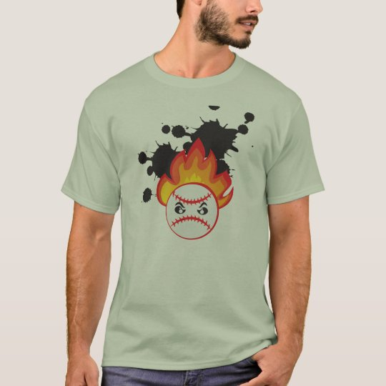 Burning Baseball Ball Camiseta