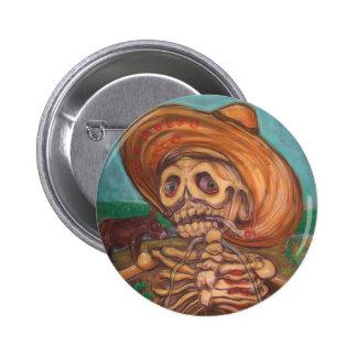 burro do acordeão y do engodo do skeleto botons