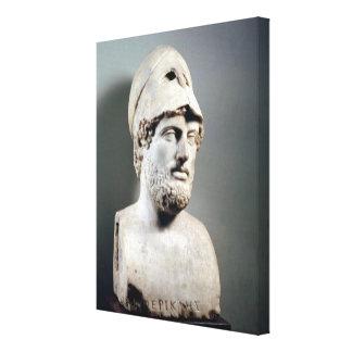 Busto da cópia de Pericles de um original grego Impressão Em Tela