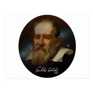 Busto de Galileo Galilei Cartão Postal