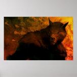 busto do homem-lobo poster