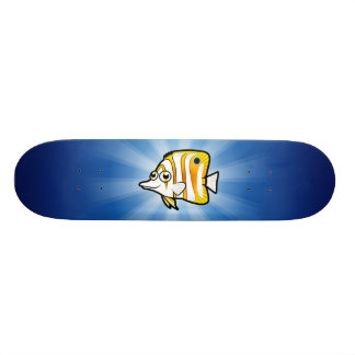 Butterflyfish dos desenhos animados shape de skate 19,7cm