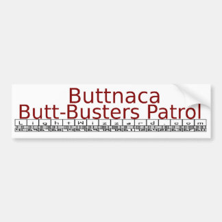Buttnaca Bumpersticker Adesivo Para Carro