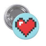 Button Coração 8bits Bóton Redondo 2.54cm