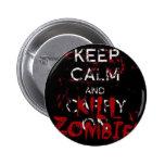 Button Keep calma and kill zombies Bóton Redondo 5.08cm
