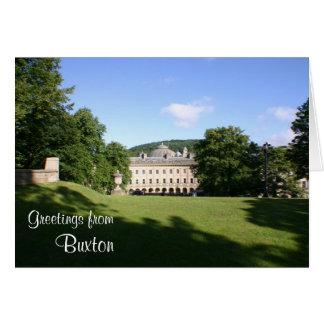 "Buxton ""abre"" o cartão de cumprimentos"