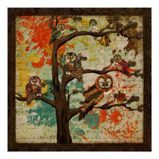Buzina superior da árvore poster perfeito