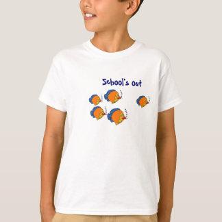 BV da escola camisa dos peixes dos desenhos Tshirts