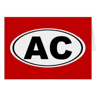 C.A. Atlantic City Cartão Comemorativo