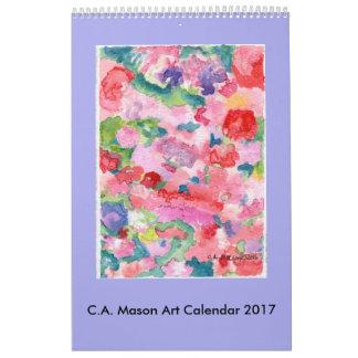C.A. Calendário das belas artes 2017 do pedreiro