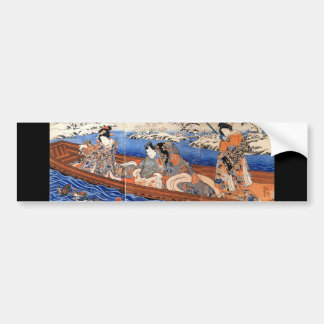 C. de pintura japonês 1800's adesivo para carro