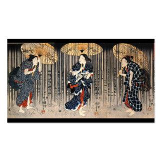 C. de pintura japonês 1800's modelo cartoes de visitas