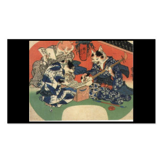 C. de pintura japonês 1800's cartoes de visitas