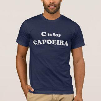 C é para o t-shirt de Capoeira Camiseta