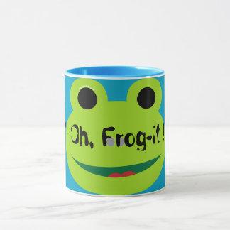 (C) Frog-It_Unisex Azul Manter--Limpo Caneca