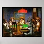C.M. Cães de Coolidge que jogam o póquer Pôsteres