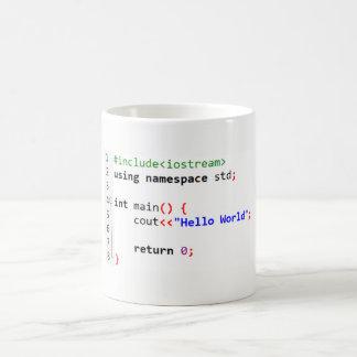 C++ Olá! caneca de café do mundo