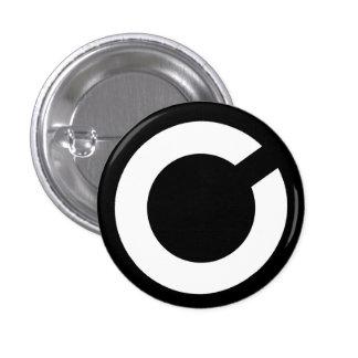 C para o botão da bala de canhão bóton redondo 2.54cm