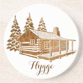 Cabana rústica de madeira Cosy - Hygge ou seu Porta Copos De Arenito