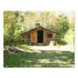 Cabana rústica de madeira rústica foto arte