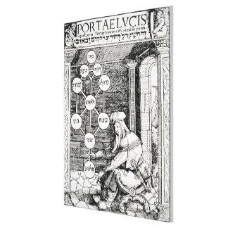Cabbalist judaico que guardara um sephiroth, cópia impressão em tela