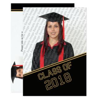 Cabeça 2018 do convite da graduação da classe