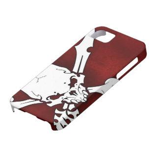 cabeça branca do crânio com os ossos transversais capas para iPhone 5