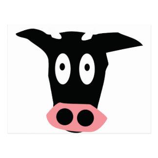 cabeça cómica engraçada da vaca cartão postal