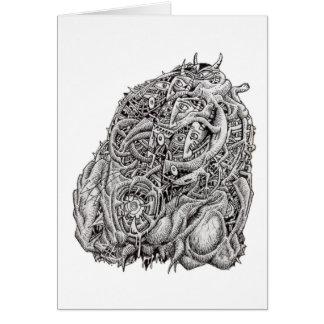 Cabeça cosmográfica pelo cartão de Brian Benson