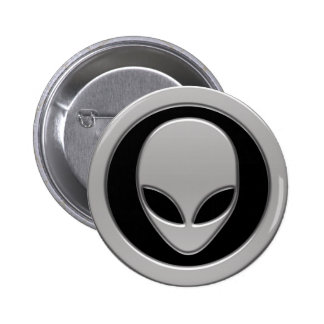 Cabeça da alienígena de espaço bóton redondo 5.08cm